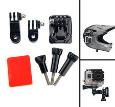 Helmet Side Mount Kits Flat Curved Base Mounts for GoPro Hero 6 5S 5 4S 3+ SJCAM