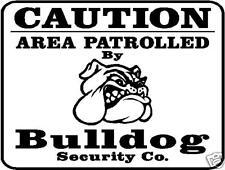 Bulldog Caution Home Security Sign Aluminum american olde english new georgia k9