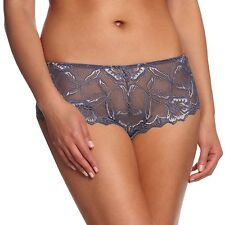 Brand New After Eden Lace Short shorty brief Knickers Grey Size XL BNWT