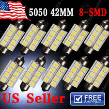 10X Super White 42MM 5050 Festoon Dome Map Interior LED Light bulb 211-2 578 569