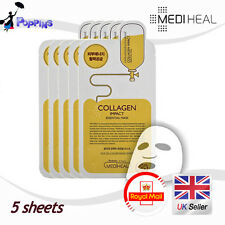 New MEDIHEAL Collagen Impact Essential Mask Pack Sheet (5 Sheets)