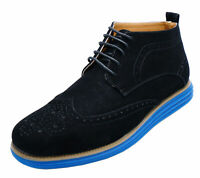 MENS BLACK LACE-UP DEALER SMART CASUAL ANKLE CHUKKA BOOTS WORK SHOES SIZES 6-11