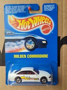 HOT WHEELS 1990 - HOLDEN COMMODORE [WHITE] VN VP SHAPE CAR MINT CARD GOOD VHTF