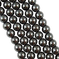 Lots Gemstone Black Hematite Stone Loose Spacer Loose Beads Findings 4/6/8/10MM