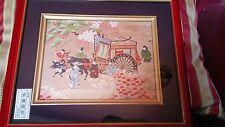 Hand Crafted Framed Tapestry, Japanese Scene.