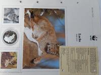 30 Jahre  WWF 1986 Luchs Silber 999  PP