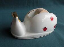 Cute Vintage LADYBUG Ceramic Tape Dispenser Japan Porcelain Lady Bug