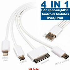 Universal 4 in1 Multi USB Charger Charging Sync Cable for Android Phones iPhone