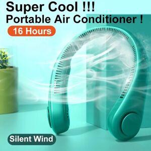 Ventilateur Portable Mini ventilateur de cou USB Recharge mains libres air froid