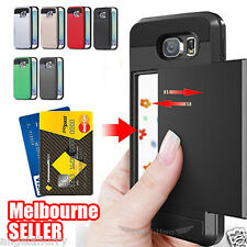 Samsung Galaxy Note 5 Credit Case Slide Armor Dual Layer Heavy Duty Cover