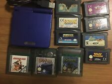 Nintendo gameboy advance Sp Blue Console With 10 Games Inc Mario Kart + Charger
