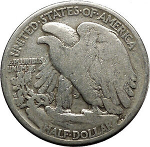 1942 WALKING LIBERTY Half Dollar Bald Eagle United States Silver Coin i45139