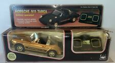 Vintage New Bright Porche 911 Targa•Remote Control Car�� GOLD (RARE)• 1984•  NEW