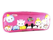 NWT Disney Tsum Tsum Pencil Case Zippered Pouch Bag Authentic Licensed Pink