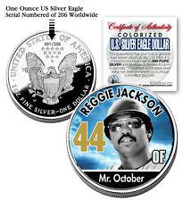 REGGIE JACKSON 2006 American Silver Eagle Dollar 1 oz US Colorized Coin Yankees