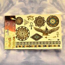 Metall Tattoo ÄGYPTISCHE MYSTIK Meditation Yoga Chakra Einmal Haut Schmuck