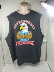 Mens Graphic Tees Sleeveless Big & Tall 3XL Patriot Freedom