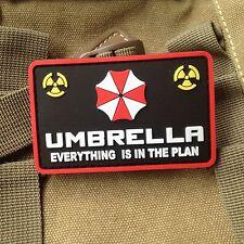 RESIDENT EVIL UMBRELLA CORPORATION PVC ARMY MORALE RUBBER SHOULDER PATCH