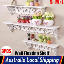 3pc Floating Wall Shelf Shabby Rack Bookshelf Home Office Display S M L