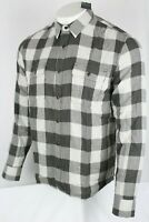 Lucky Brand Men's Untucked Fit Doubleweave Buffalo Check Button Shirt 7M43681