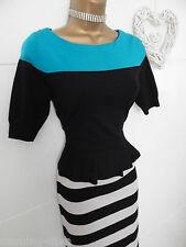 Karen Millen - Elegant Block Colour Knit Peplum Style Party Dress Sze 12 bnwot