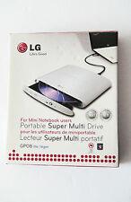 LG Portable Super Multi-Drive GP08 Lite - White Color