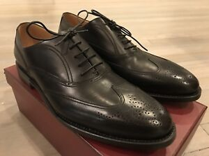 1,000$ Bally Augusti Black Scribe Goodyear Welted Size US 12 Made in Switzerland