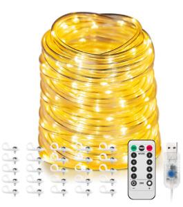 20m LED-Lichtschlauch Lichterschlauch USB, IP65 Wasserdicht Warmweiß Dekolicht