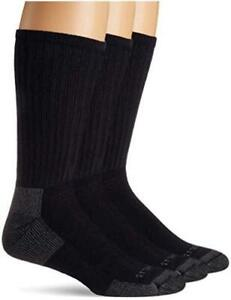 Carhartt Men's 3-Pack Standard All-Season Cotton Crew Work Socks,, Navy, Size  4