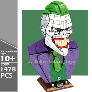 Building Blocks Batman Series Joker Bust Adult Kids MOC Brick Toys Gifts 1478PCS