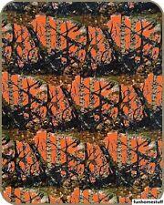 "NEW ORANGE CAMO WOODS CAMOUFLAGE LUXURY FAUX FUR MEDIUM WEIGHT BLANKET 70""x90"""