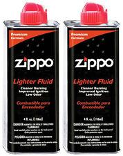 Zippo 4 FL. OZ Lighter Fluid Fuel 2 Cans for Zippo Lighter