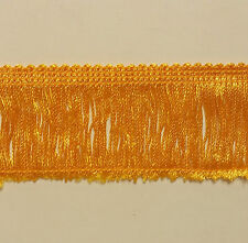 """2"""" Rayon Chainette Fringe Col. Flag Gold - Put-up: 12 Continuous Yards"""