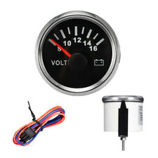 "2"" LED Universal Analog Voltage Gauge Volt Meter 8-16V Car ATV Boat Truck 1pcs"