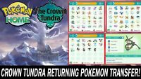 The Crown Tundra DLC Pokemon Pack All Pokemon Shiny!!