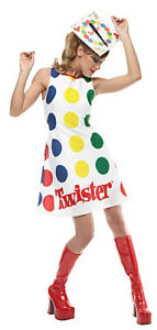 Twister Game Board  60s 70s Dress Up Women Costume M