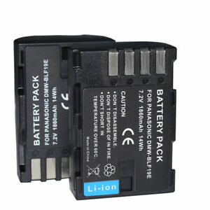 2X DMW-BLF19 Camera Battery for Panasonic Lumix DC-GH5 DMC-GH3 DMC-GH3K GH4 GH4K