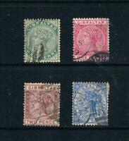 Gibraltar - 1886-87 - ½d to 2½d QV Portraits - SC 8/14a [SG 8-11]USED 20