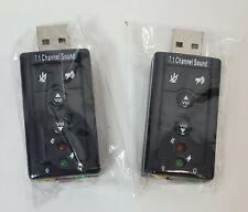 Mic Adapter External Virtual 7.1 Channel Usb 2.0 3D Audio Sound Card Laptop L Pc