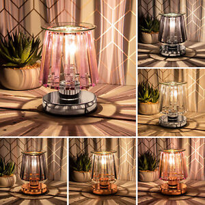 Crystal Glass Shade Aroma Wax Melt And Oil Burner Electric Touch Lamp Wax Warmer