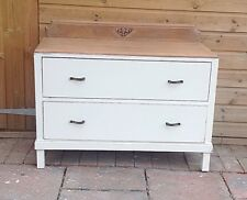 VNTAGE OAK   CHEST OF 2 DRAWERS SHABBY CHIC   NATURAL OAK TOP