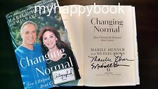 SIGNED Changing Normal How I Helped My Husband Beat Cancer by Marilu Henner, new