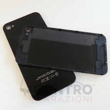 PER APPLE IPHONE 4 4G BACK COVER POSTERIORE NERO COPRI BATTERIA TOP QUALITY