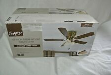 Chapter 42-inch flush mount ceiling fan & light bright brass finish ---NEW--