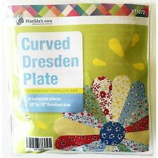 "Matilda's Own Curved Dresden Plate 10"" to 15"" Patchwork Template Set"