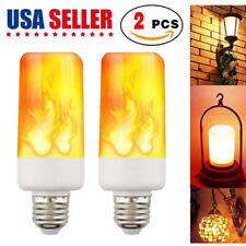 LED Flame Effect Light Bulb 2Pack 4 Modes Flame Light Bulbs with Gravity Sensor