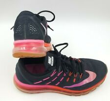 Nike Air Max Womens 2016  Size 10.5 Black Pink 806772-006 Running Shoes PreOwned
