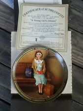 """1985 Norman Rockwell Limited Edition """"A Young Girl's Dream"""" Collectible Plate"""
