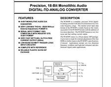 1x PCM58P Precision 18-Bit Monolithic Audio DIGITAL-TO-ANALOG CONVERTER PCM58