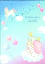 New Sanrio Little Twin Stars Kiki & Lala Clear file Made in Japan Stationery